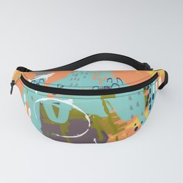 South of the Border, Abstract Gold Orange Mint Fanny Pack