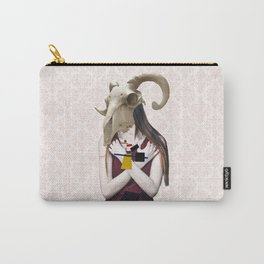 Skull Abstract Collage Carry-All Pouch