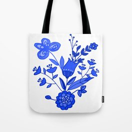 Blue &White Floral Tote Bag