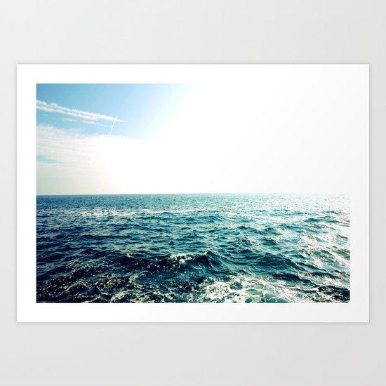 Sea waves I Art Print