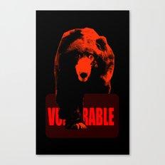 Vulnerable Sloth bear Canvas Print