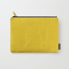 Mustard Yellow Pattern Carry-All Pouch