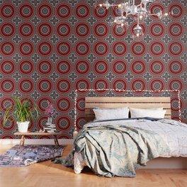 Red and Black Mandala Wallpaper