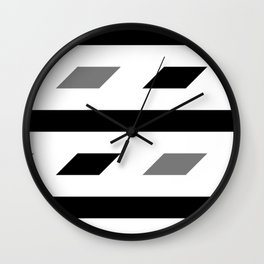 Black and white pattern 2020 001 Wall Clock