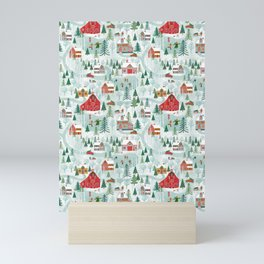 New England Village (pattern) Mini Art Print