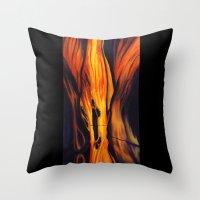 namaste Throw Pillows featuring Namaste by Thom Lupari