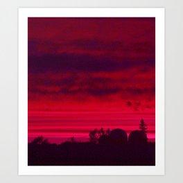 Scarlet Crescendo Art Print