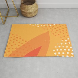 Abstract Modern Contemporary Monochromatic Background in Bright Orange Color GC-118-10 Rug