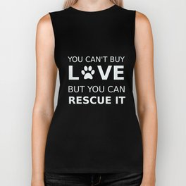 Animal rescue love Biker Tank