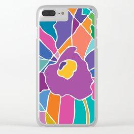 Orquidea Violeta Clear iPhone Case