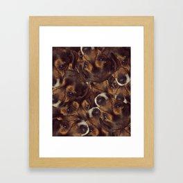 Borker collage Framed Art Print