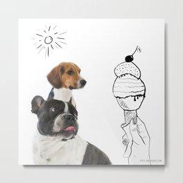 Juno and Ari ice-cream  Metal Print