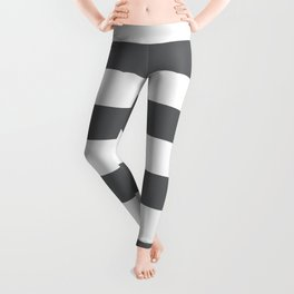 Simply Striped in Storm Gray and White Leggings