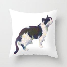 John the Cat Throw Pillow