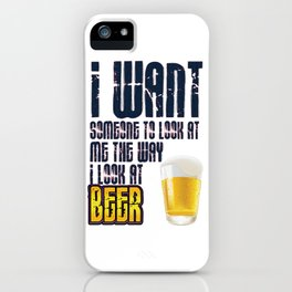 i look beer- I love beer iPhone Case