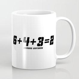 6+4+3=2 - Black Coffee Mug