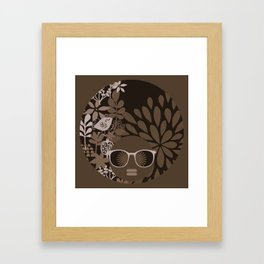 Afro Diva : Brown Sophisticated Lady Framed Art Print