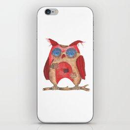 Fun textile owl iPhone Skin