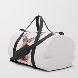Deer with flowers 2 Duffle Bag