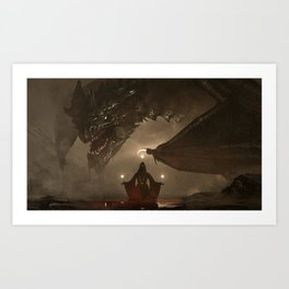 One Who Knows No Mercy Art Print