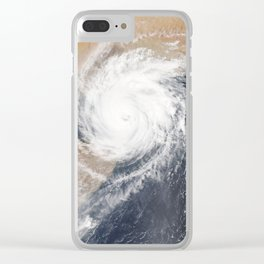 Tropical Cyclone Chapala Over the Gulf of Aden Clear iPhone Case