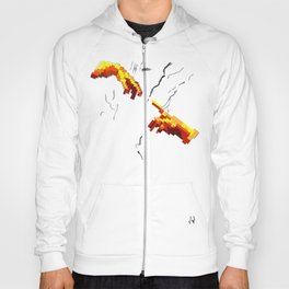 Michelangelo hands. Pixelation Hoody