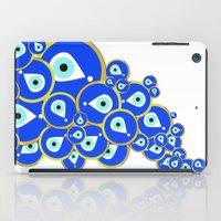 evil eye iPad Cases featuring Evil eye by Suburban Bird Designs