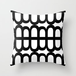 B Pattern Throw Pillow