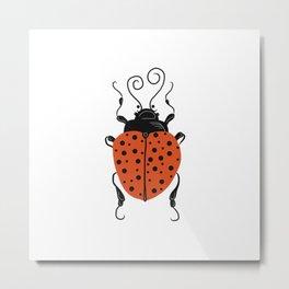 Little Miss Ladybug Metal Print