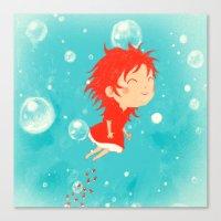ponyo Canvas Prints featuring Ponyo by Peerro