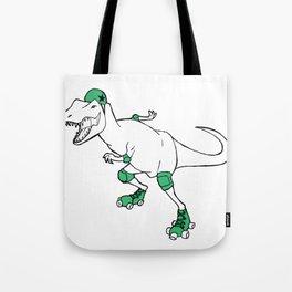 Derby Dino WHT/grn Tote Bag