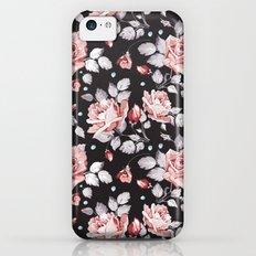 Vintage Pink Rose Flowers iPhone 5c Slim Case