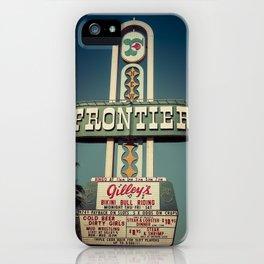 Frontier Hotel Sign, Las Vegas iPhone Case
