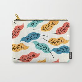 Colorful Autumn Leaves Illustration Carry-All Pouch