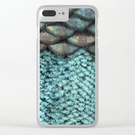 Mermaid Scales Dreamy Sea Blue Clear iPhone Case