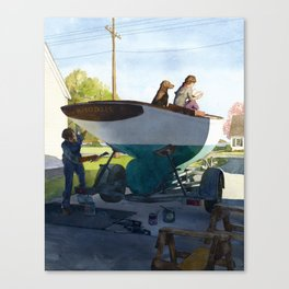 Spring Cleaning Canvas Print