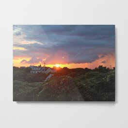 Sunset on Block Island Metal Print