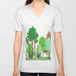 A Day in the Forest Unisex V-Neck