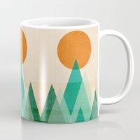 mountains Mugs featuring No mountains high enough by Picomodi
