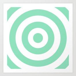 Target (Mint & White Pattern) Art Print