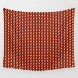 Red Squares Gold Wall Tapestry