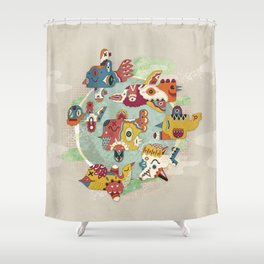 The other side of another sun Shower Curtain