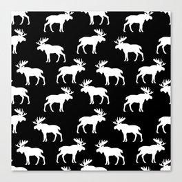 Moose Trot // Black Canvas Print