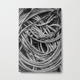 Coiled Rope Metal Print