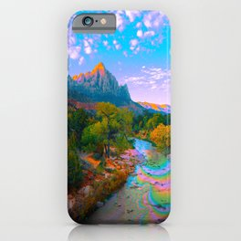 Flowing With The River iPhone Case