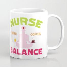 Nurse beer coffee balance Coffee Mug
