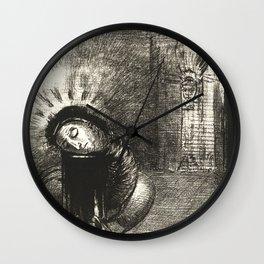 "Odilon Redon ""... une longue chrysalide couleur de sang"" Wall Clock"