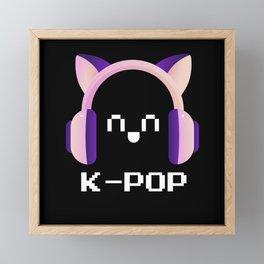 K-Pop Fan Headphones Framed Mini Art Print