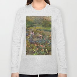 "Auguste Renoir ""Rose Garden"" Long Sleeve T-shirt"