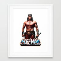 he man Framed Art Prints featuring He-Man by MartiniWithATwist